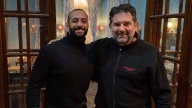 صورة الممثل  بهاء البرلسي يقدم دور رئيس إحدى المنظمات الإرهابية في فيلم الكاهن