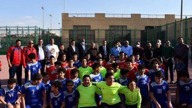 صورة زيارة تفقدية لوزير الرياضة بنادي الزهور بالتجمع الخامس