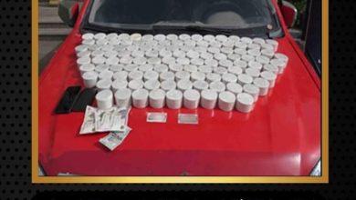 صورة إحباط محاولة تهريب ٣٠ كيلو جرام من مخدر الهيروين