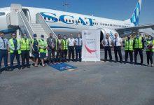 صورة وزارة الطيران المدني تستقبل الرحله القادمة من دولة كازاخستان..