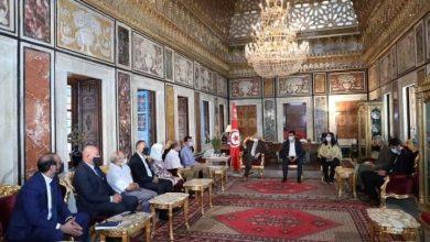 صورة رئيس مجلس نواب الشعب يستقبل أعضاء تنسيقية نقابات المهن الطبية