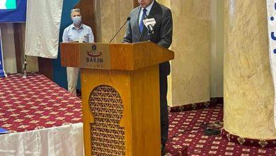 صورة وزير الرياضة يشهد الجمعية العمومية للاتحاد الإفريقي للتراثيلون بشرم الشيخ