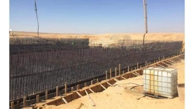 """صورة رئيس جهاز """"أكتوبر الجديدة"""": صب خرسانة خزان مياه سعة 20 ألف م3 بغرب المطار"""