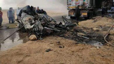 صورة عاجل..حادث مروع علي طريق السويس
